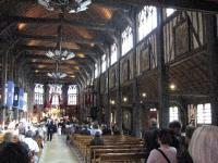 france, Honfleur, Normandie, église au toit en coques de bois retournées , http://voyages-inattendus.wifeo.com