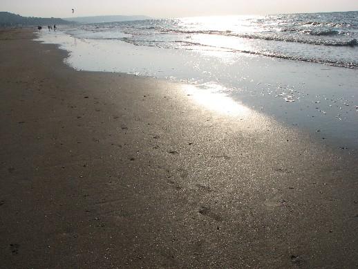 france, Deauville, Normandie, reflets sur le sable , http://voyages-inattendus.wifeo.com