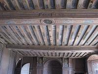 voyages-inattendus,  la roche guyon, normandie, plafond du chateau classique