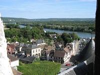 voyages-inattendus,  la roche guyon, normandie, la seine vue du chateau